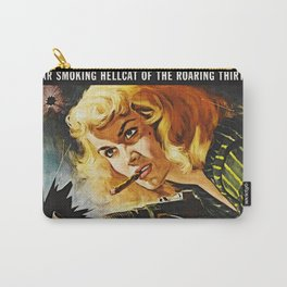 Cigar Smoking Hellcat of the Roaring Thirties Carry-All Pouch