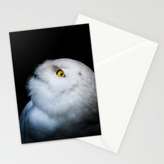 Winter White Snowy Owl Stationery Cards