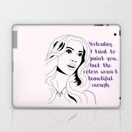 Queen B Quote Laptop & iPad Skin