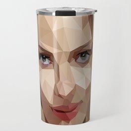 Scarlett Johansson Low Poly Art Travel Mug