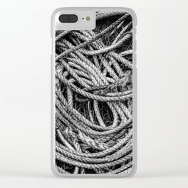 Coiled Rope Clear iPhone Case