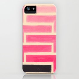 Pink Ombre Geometric Pattern iPhone Case