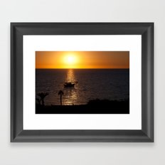 Sunset in Cyprus Framed Art Print