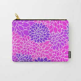 Shades Of Purple - Bright Floral Pattern - Flower Art Carry-All Pouch