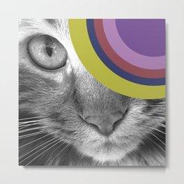 Pshycedelic Cat Metal Print