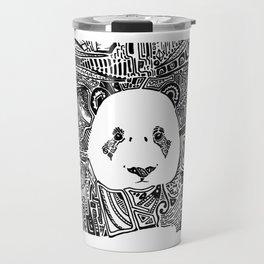 Patterned Panda Travel Mug