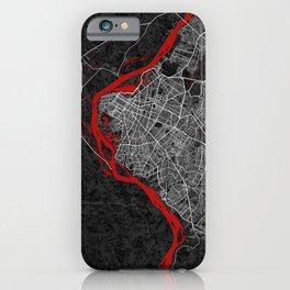 Asunción City Map of Paraguay - Oriental iPhone Case