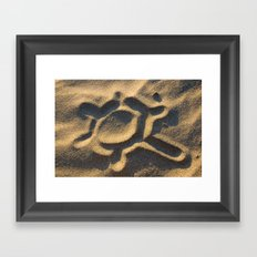 Think of the sun... Framed Art Print