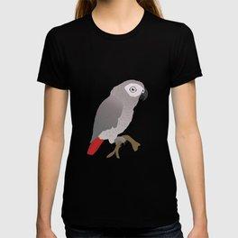 Cute African grey parrot vector T-shirt