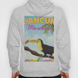 Cancun Mexico Tropical vintage travel poster Hoody