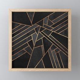 Black Night Framed Mini Art Print