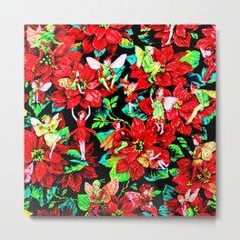 Fairy Flower | Christmas Spirit Metal Print