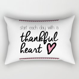 Thankful Heart Rectangular Pillow