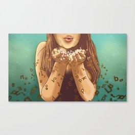Miss Apprehension Canvas Print