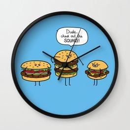Burger Bullies Wall Clock