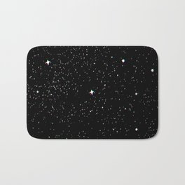 Simple psyche white stars night Bath Mat