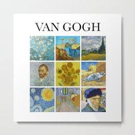Van Gogh - Collage Metal Print