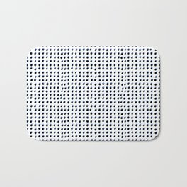 Dots (Shadowed) - Black x Blue Bath Mat