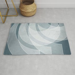 Orbiting Lace in Teal Tones Rug