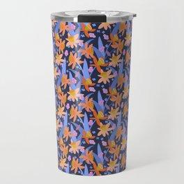 Daffodil Days in Navy Travel Mug