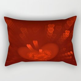 Red Hearts St. Valentine's Galentine's Sweetest Day love Burgundy Bordo Vinous Ruby Garnet Pattern Rectangular Pillow