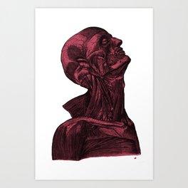 Sacred Man-Crimson Art Print