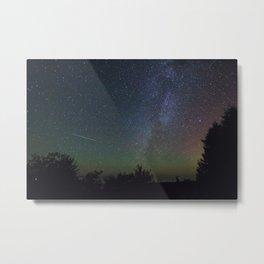 The Milky Way and Northern Lights  The Headlands International Dark Sky Park, Michigan Metal Print