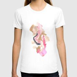 Watercolor Pink Black Flow   [dec-connect] 10. slither T-shirt