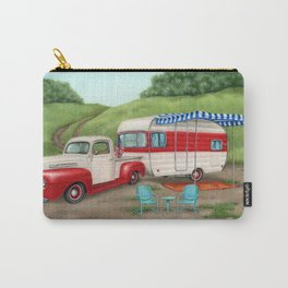 Patriotic Vintage Camper and Truck- Cropped Carry-All Pouch