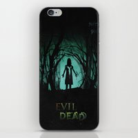 evil dead iPhone & iPod Skins featuring Evil Dead (2013) Movie Poster by desistfilm