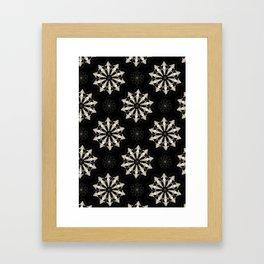 Wolf Skull Repeat Pattern Framed Art Print