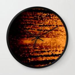 Warm Brown Wall Clock