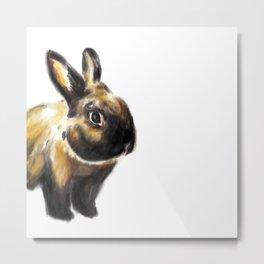 Rabbit Watercolor Painting Metal Print
