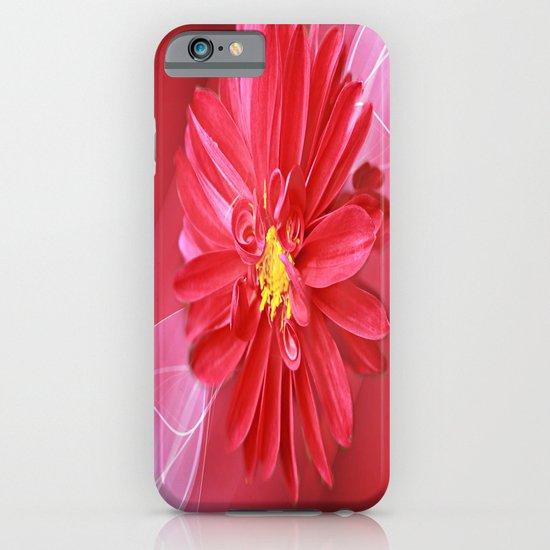 Crimson Dahlia Abstract iPhone & iPod Case