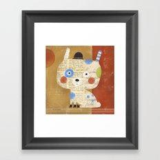 BIG HEAD TINY BOOTS Framed Art Print