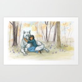 Brother Wolf: Dream Art Print