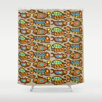 pisces Shower Curtains featuring Pisces by Olya Yang