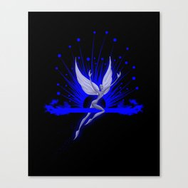 Electric Blue Angel Canvas Print