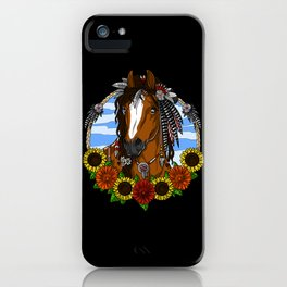 Sunflowers Horse iPhone Case