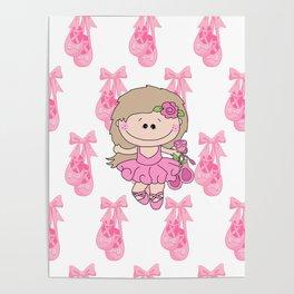 Little Ballerina in Pink Poster