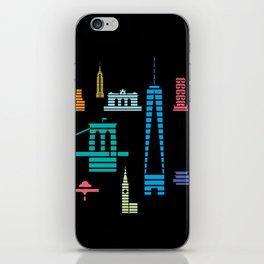 New York Skyline One WTC Poster Black iPhone Skin