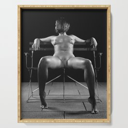 Nude Woman Relaxing Serving Tray