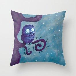 Owl & the stars Throw Pillow