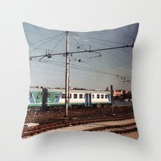 Padova Train Ride Throw Pillow