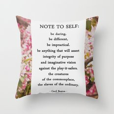 note to self. Throw Pillow
