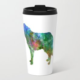 Bosnian and Herzegovinian Croatian Shepherd Dog in watercolor Travel Mug