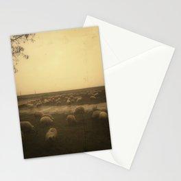 | sheep at dusk | Stationery Cards