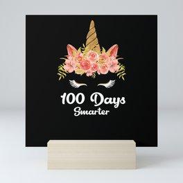 Unicorn 100 Days Smarter Roses Flower Mini Art Print