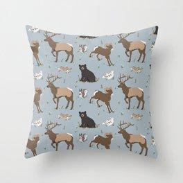 Rocky Mountain Critters Throw Pillow