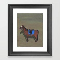 Old Brown Horse Framed Art Print